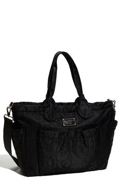 Free shipping and returns on MARC BY MARC JACOBS 'Pretty Nylon Eliz-A-Baby' Diaper Bag at Nordstrom.com. Durable nylon baby bag is embroidered with tonal, oversized logo letters and topped with casually knotted handles. A coordinating changing pad and an optional adjustable shoulder strap are included.