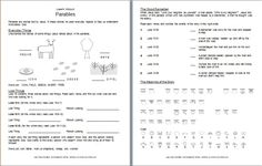 This worksheet on parables covers the lost sheep, the lost coin, the prodigal son, and the good Samaritan. It also touches on the meaning of each parable. Click here to download. This is part of a ...