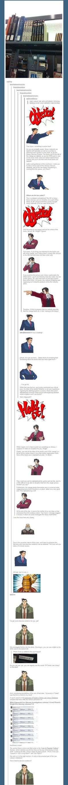 One Of The Greatest Tumblr Posts I've Ever Seen - Ace Attorney