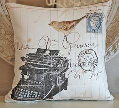 Typewriter pillow cover