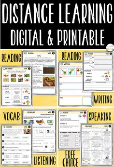 """""""At-Home Learning"""" with English Language Learners just got easier with one full week of DIGITAL and PRINTABLE language building activities that support listening, reading, speaking and writing skills. These scaffolded resources support language learning and can be easily shared with students through Google Classroom or """"print and go.""""   Recommended for upper elementary, ELP Levels 2-3. Google Classroom, Classroom Ideas, English Language Learners, Home Learning, Reading Activities, Upper Elementary, Writing Skills, Teaching English, Vocabulary"""
