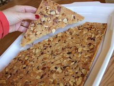 This recipe for Lemon Almond Cookie Brittle is baked as one big cookie and then broken into pieces just like a brittle. Photographs included.
