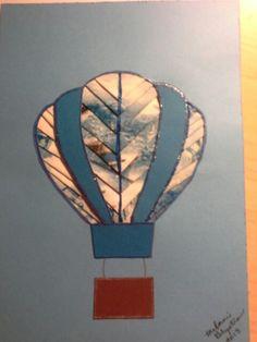 Fancy folded hot air balloon