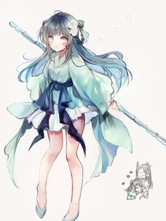 Kawaii Anime Girl, Anime Art Girl, Manga Girl, Anime Girl Dress, Anime Kimono, Anime Oc, Anime Chibi, Cute Characters, Anime Characters