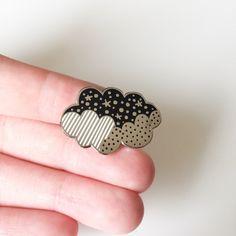 Enamel pin / Cloud enamel pin / nature enamel by anitaivancenko