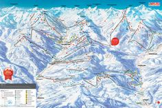 ❄⛷️ Updated Saalbach piste map 2017/2018 - Click to see large version - #skiing