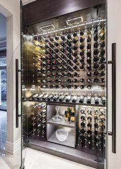 Nadire Atas on Adegas Embaixo da Escada Modern wine cellar beautiful modern custom reach in wine cellar featuring the cable wine system Glass Wine Cellar, Home Wine Cellars, Wine Cellar Design, Wine Cellar Modern, Modern Wine Rack, Wine Rack Design, Wine Glass, Cave A Vin Design, Bar Sala