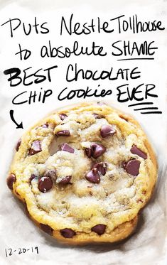 Best chocolate chip cookies recipe ever. Best chocolate chip cookies recipe ever. Best Chocolate Chip Cookie Recipe Ever, Soft Chocolate Chip Cookies, Chocolate Chip Recipes, Chocolate Chocolate, Healthy Chocolate, Divine Chocolate, Dessert Chocolate, Easy Appetizer Recipes, Dessert Recipes