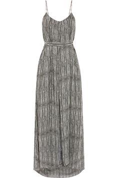 L'AGENCE Baily printed silk-chiffon maxi dress. #lagence #cloth #dress