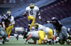 Former Michigan Great - Tyrone Wheatley. Michigan Wolverines Football, Ncaa College Football, Steelers And Browns, Michigan Go Blue, University Of Michigan, Detroit Lions, Sports, Big, Cheer