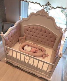 50 Inspiring Nursery Ideas for Your Baby Girl - Cute Designs You'll Love Get inspired to prepare and create the perfect room for your baby girl. These baby girl nursery ideas can help you create a cute girly room style. Baby Bedroom, Baby Room Decor, Nursery Room, Girl Nursery, Girls Bedroom, Nursery Ideas, Babyroom Ideas, Ocean Nursery, White Nursery