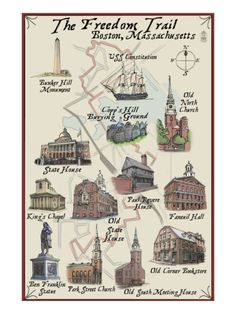 The Freedom Trail - Boston, MA;  I'm torn because I'd love to see these…