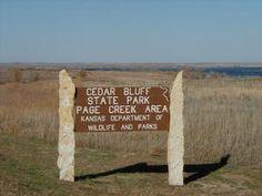 Cedar Bluff State Park, KS