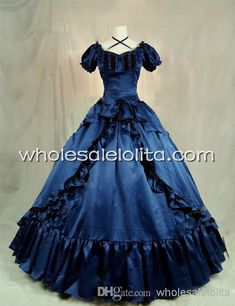 Deep Blue Victorian Southern Belle Dress Ball Gown Prom Dresses | Buy Wholesale On Line Direct from China