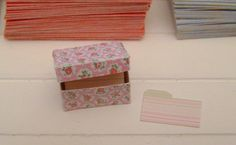Miniature Cath Kidston RECIPE BOX with Index Cards