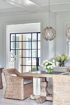 Gorgeous bright and neutral dining room
