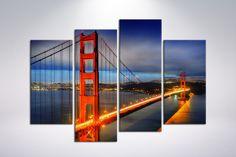 Canvas art print Golden Gate Bridge color  48 x by CanvasRevel
