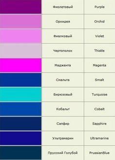 Gallery.ru / Фото #1 - Названия цветов и оттенков в картинах. - Vladikana