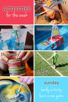 Weekly Activities Planner Sample 2 - hands on : as we grow