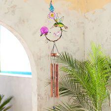 LED Solar Hummingbird Wind Chimes