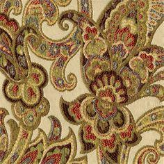 Grand Paisley Multi Jacquard Paisley Upholstery Fabric - 30412 - www.buyfabrics.com
