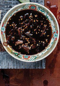 Sambal Kecap (Sweet Soy Dipping Sauce)  Recipe - Saveur.com~  Can't eat a egg roll without a great sauce~