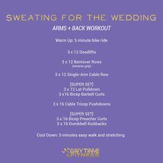 Wedding Workout: Arm and Back Workout #SweatingForTheWedding