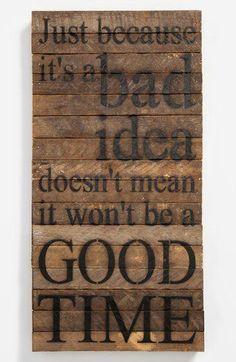 houten bord met tekst