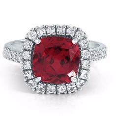 Helzberg Diamonds Ruby White Sapphire Ring -Lowest