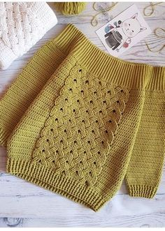 This is a fun, quick and easy crochet project for all level - Salvabrani Ravelry bluewe s in search of pattern Crochet Jumper, Crochet Cable, Crochet Jacket, Crochet Cardigan, Crochet Stitches, Crochet Patterns, Crochet Tops, Unique Crochet, Beautiful Crochet