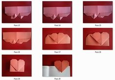 Manualidades de amor: marcapáginas de corazón. Pasos del 13-19