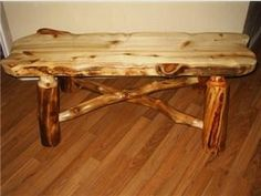 log bench beautiful Decorating Ideas, Decor Ideas, Fa, Log Furniture, Wooden Crafts, Rustic Charm, Logs, Hobbies And Crafts, Cabins