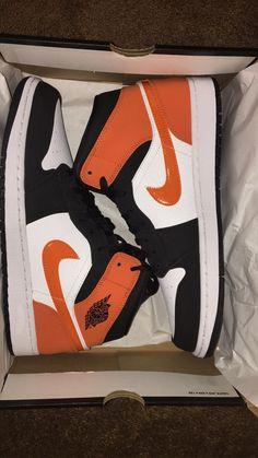 Air Jordan 1 on Mercari Jordan 1 Orange, Orange And White Jordans, Jordan Shoes Girls, Girls Shoes, Zapatillas Nike Jordan, Nike Air Shoes, Baskets Nike, Hype Shoes, Fresh Shoes