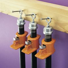 You can never have enough clamps around the shop. Where to store them is another matter, however. Here are three simple ideas.