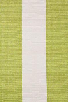 #DashAndAlbert Yacht Stripe Green/White Woven Cotton--Kitchen