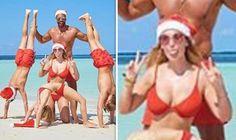 5bbf8e14b1bfc Rio Ferdinand  Star shares busty snap of fiancee Kate Wright as family  enjoy getaway - News Flash