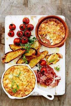 Baked Ricotta With Griddled Vine Tomatoes South African Recipes, Ethnic Recipes, Too Many Cooks, Baked Ricotta, Ham And Cheese, Smoked Paprika, Fabulous Foods, Cooking Classes, Pie Dish