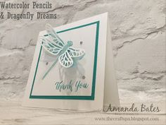 The Craft Spa - Stampin' Up! UK independent demonstrator : Watercolour Pencils # 4 - on Vellum