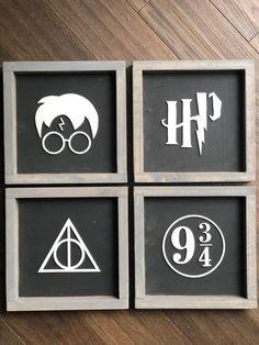 Signe Harry Potter, Décoration Harry Potter, Harry Potter Birthday, Harry Potter Wall Art, Harry Potter Bathroom, Harry Potter Nursery, Harry Potter Bricolage, Harry Potter Painting, Anniversaire Harry Potter