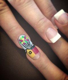 "Disney Pixar ""UP"" Nail Art"