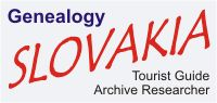 Genealogy - Tourist Guide - Slovakia - Kosice - Bratislava - Guide to Travel Trip Hotel Info Roots Forum Church Birth Records of Slovakia