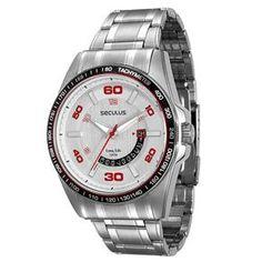 f4d4269307b6a Relogio no Extra.com.br. Relógios MasculinosPainelLaboratórioMen s  WatchesLocais A Visitar. Relógio Masculino Analógico Seculus 60652G0SVNA1 -  Cromado