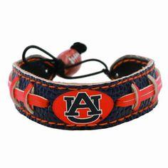 Auburn Tigers Team Color Football Bracelet #AuburnTigers