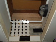 Here is a shoe cubbie I built and installed, this is what I'm thinking for flooring.