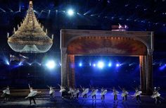 Dancers perform during the 2014 Sochi Winter Olympics Closing Ceremony at Fisht Olympic Stadium on February 23, 2014 in Sochi, Russia. (Phot...