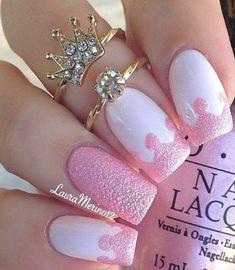 Beautiful Royal Pink Nail Art
