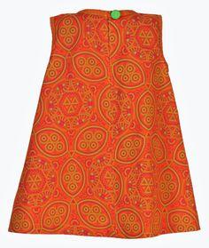 Girls Orange/Pink African Print Dress Imvelo