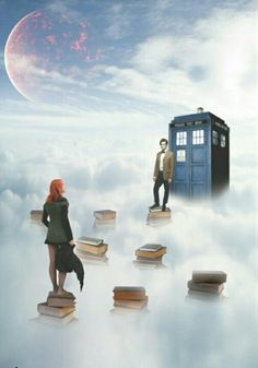 """In the clouds.<~ at first I was like """"wat's with all da books"""" then I remembered the doctor said """" were all stories in the end."""" Mind Blown << That's ok...ill just be over here...crying my eyes out..."""