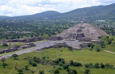 Mondpyramide in Teotihuacán (Mexiko)