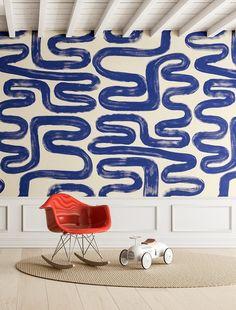 WALLPAPER : AZTECA©️️️️️️️️️️️️️ MURAL // RIVER - drop it MODERN - Modern and contemporary interior designed wallpaper for the studio and home. | #wallpaper #InteriorDesign #HomeDecor #bedroom #bathroom #kitchen #LivingRoom #designer #luxury #traditional #FarmHouse #MidCenturyModern